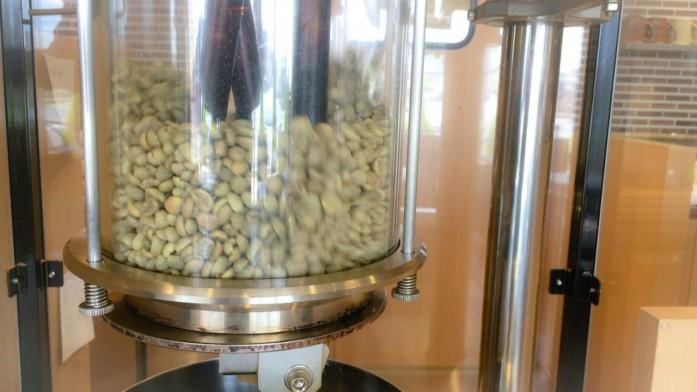 ロースターグラスで踊る生豆