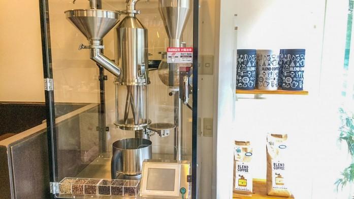 YAMAMOTO喫茶の焙煎機