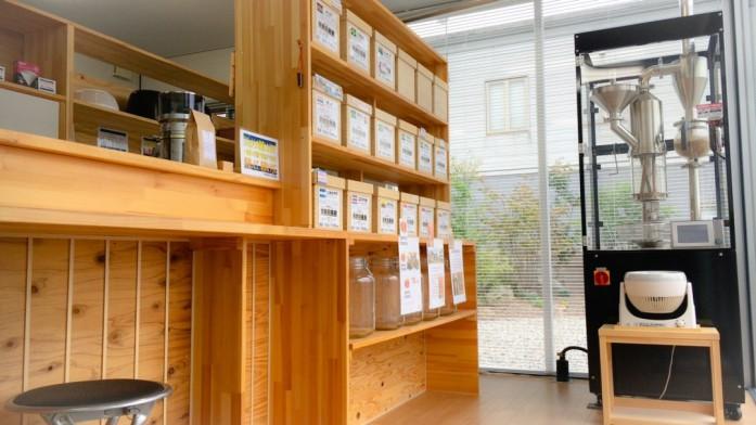 珈琲豆の棚